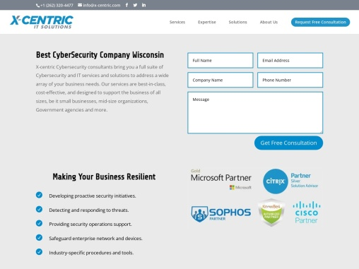 Best Cybersecurity solutions in Wisconsin   X-Centric IT solutions