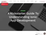 Guide to understand Ionic app development | X-Byte Enterprise Solutions