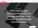 Native App Development Should Always Be Your First Priority In Mobile App Development