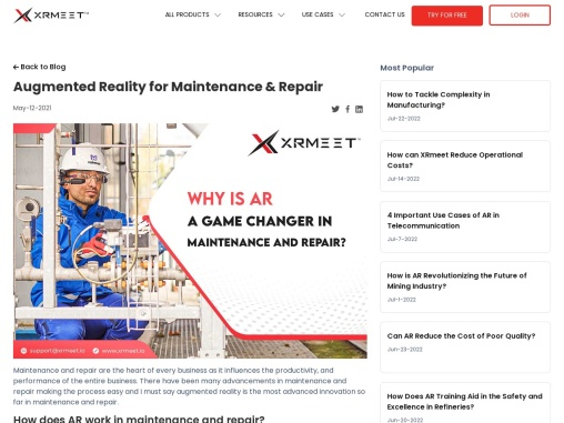 Augmented Reality in Maintenance