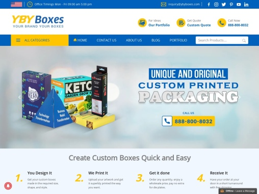 YBY Boxes is a wholesale custom boxes manufacturer