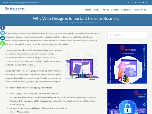 Why Web Design is Important for your Business – YesInformation