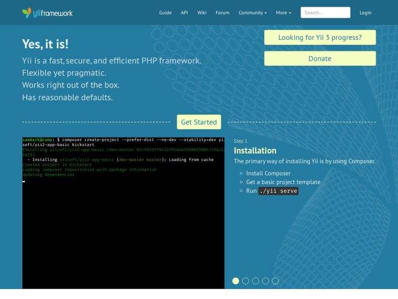 Yii PHP Framework | 高速で安全で効率的なPHPフレームワーク