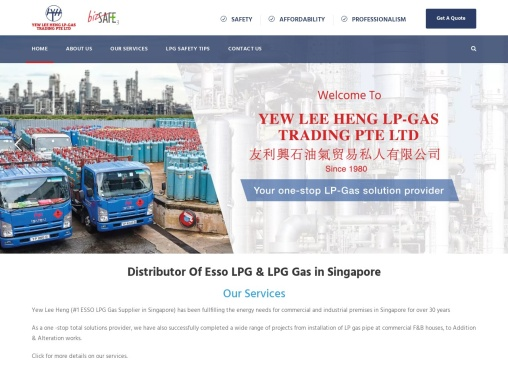 Distributor Of ESSO LPG Gas in Singapore | Yew Lee Heng