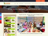 200 Hour Ayurveda Yoga Teacher Training Course in Rishikesh, India