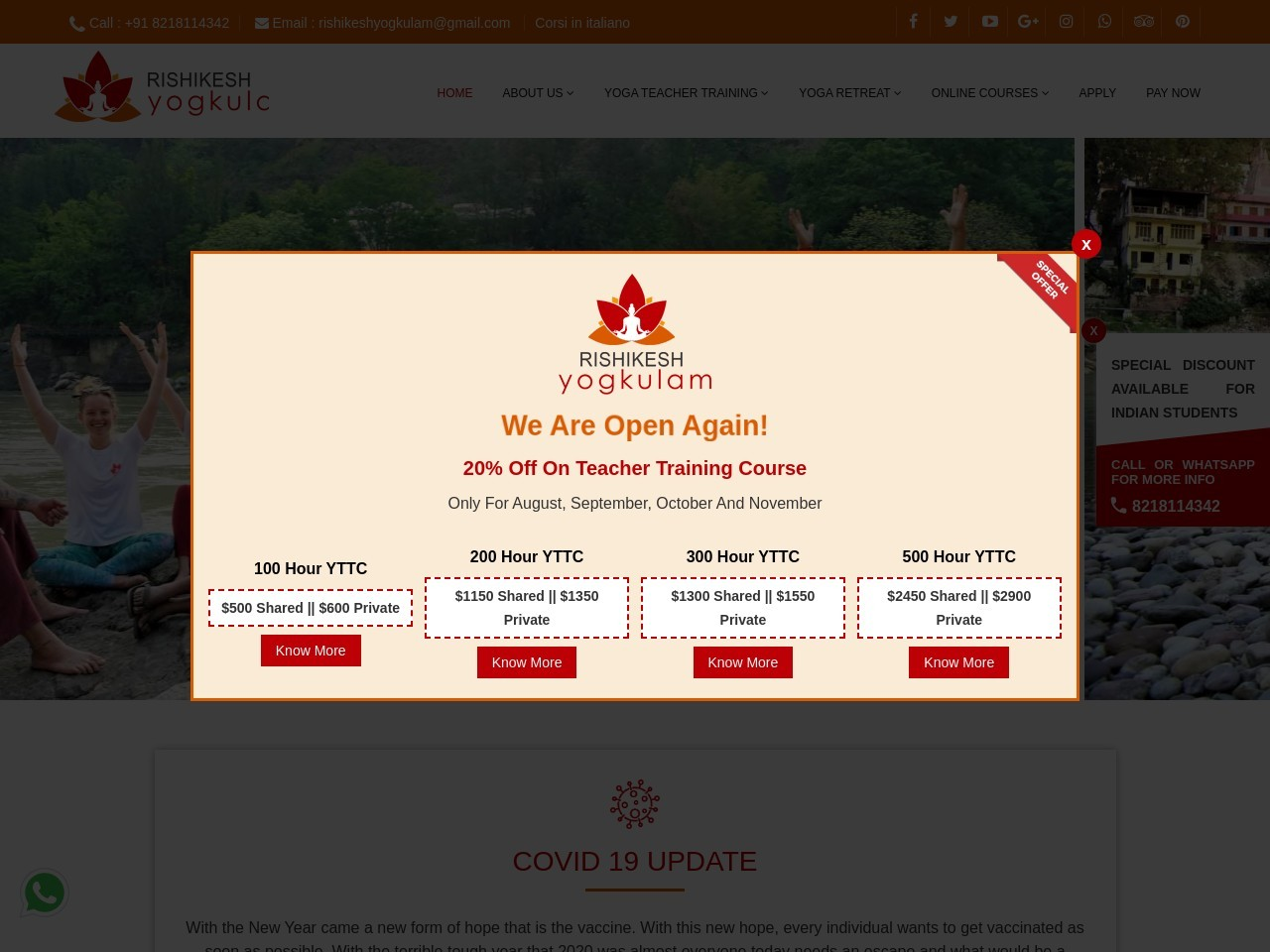 100 Hour Ayurveda And Yoga Teacher Training Course In Rishikesh