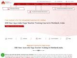 200 Hour Ayurveda Yoga Teacher Training Course in Rishikesh