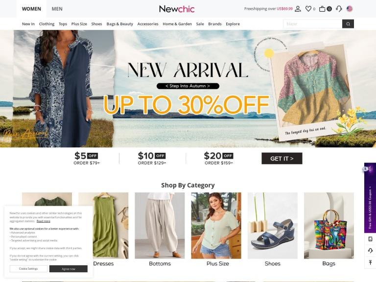 Yoins.com - skjermbilete
