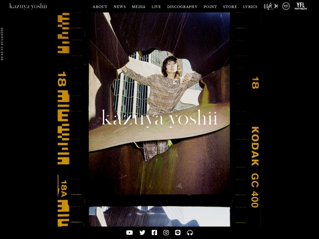 吉井和哉|YOSHII KAZUYA OFFICIAL WEBSITE