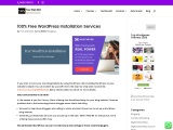WordPress Installation Services for Free