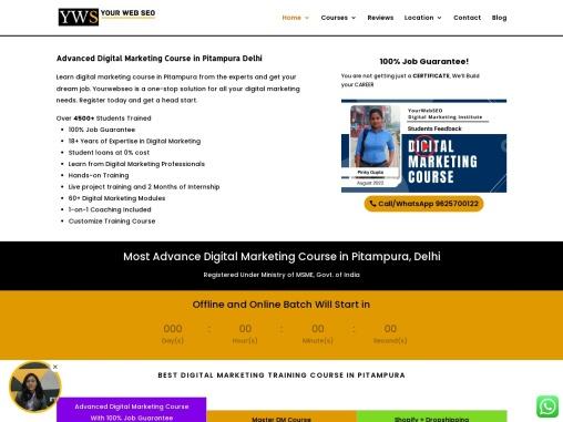 Yourwebseo Digital Marketing Institute in Pitampura