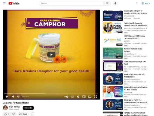 Camphor for Good Health – Pure Camphor