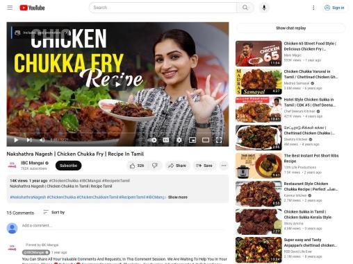 Nakshathra Nagesh | Chicken Chukka Fry | Recipe In Tamil