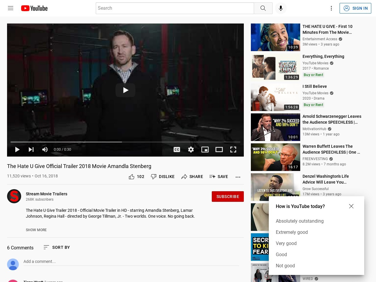 The Hate U Give Official Trailer 2018 Movie Amandla Stenberg