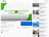 How to Edit Employee Details in Payroll in sage 50