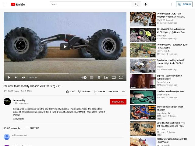 the new team modify chassis v3.0 for Berg 2.2…       – YouTube