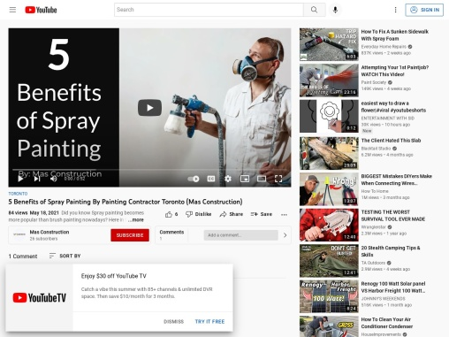 5 Benefits of Spray Painting By Painting Contractor Toronto (Mas Construction)