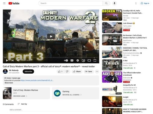 Call of Duty Modern Warfare part 3 – official call of duty®: modern warfare® – reveal trailer