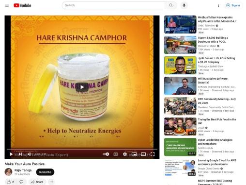 Make Your Aura Positive – Pure Camphor