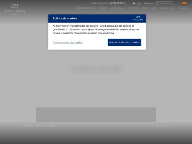 Zafiro Hotels screenshot