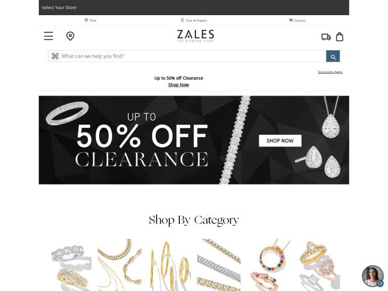 Zales screenshot