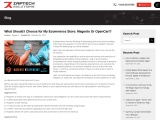 What Should I Choose for My Ecommerce Store: Magento Or OpenCart?