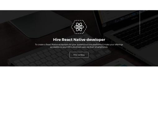 Hire Dedicated React Native developer