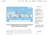 Five essentials tactics of a successful inbound B2B lead generation program