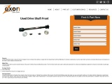 Used Drive Shaft, Cheap Drive Shaft Front, Zaxon Auto Parts