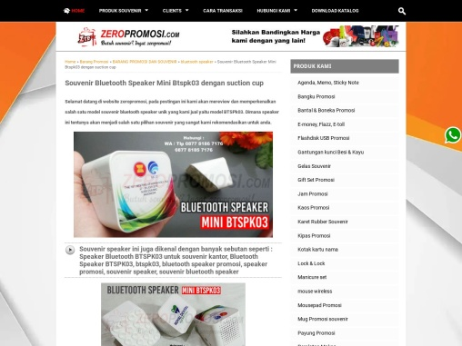 Souvenir Promosi Speaker Bluetooth Mini BTSPK03 Custom Logo