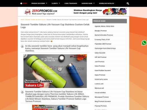 Jual Souvenir Tumbler Vacuum Stainless Sakura Life Promosi