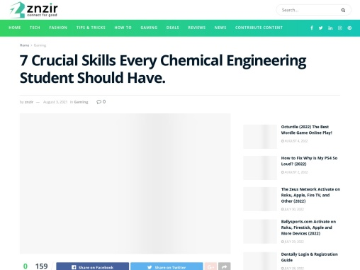 Crucial Skills for Chemical Engineering Student