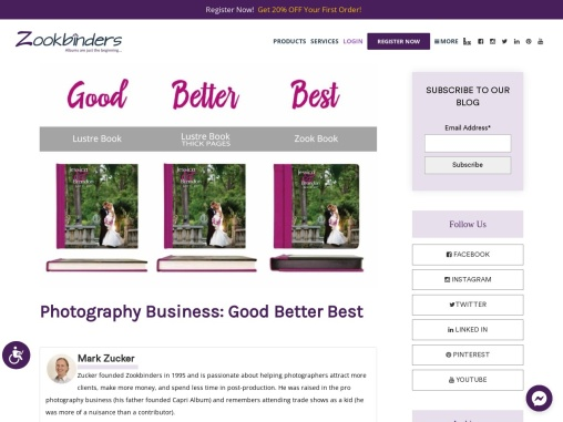 Photography Business: Good Better Best