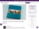 """Say """"Yes"""" to Genuine Leather Wedding Albums"""