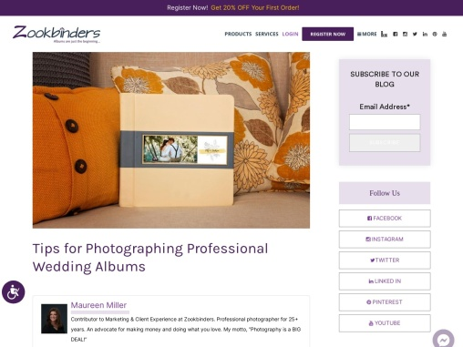 Tips for Photographing Professional Wedding Albums