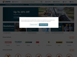 Zoro Tools & Building Supplies Uk screenshot