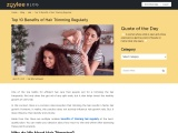 Top 10 Benefits of Hair Trimming Regularly – Zoylee Blog