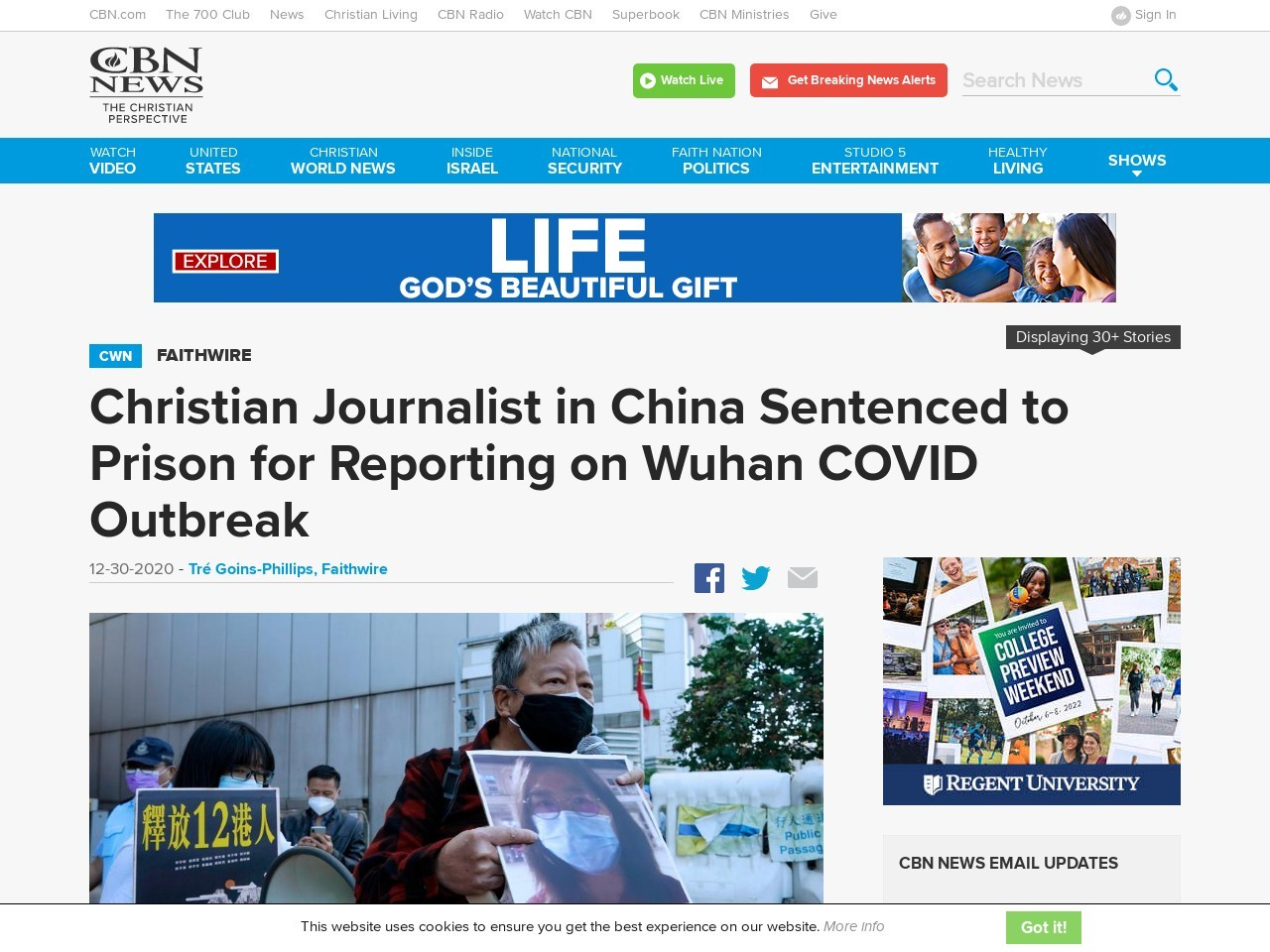 Christian Journalist in China Sentenced to Prison for Reporting on Wuhan COVID Outbreak