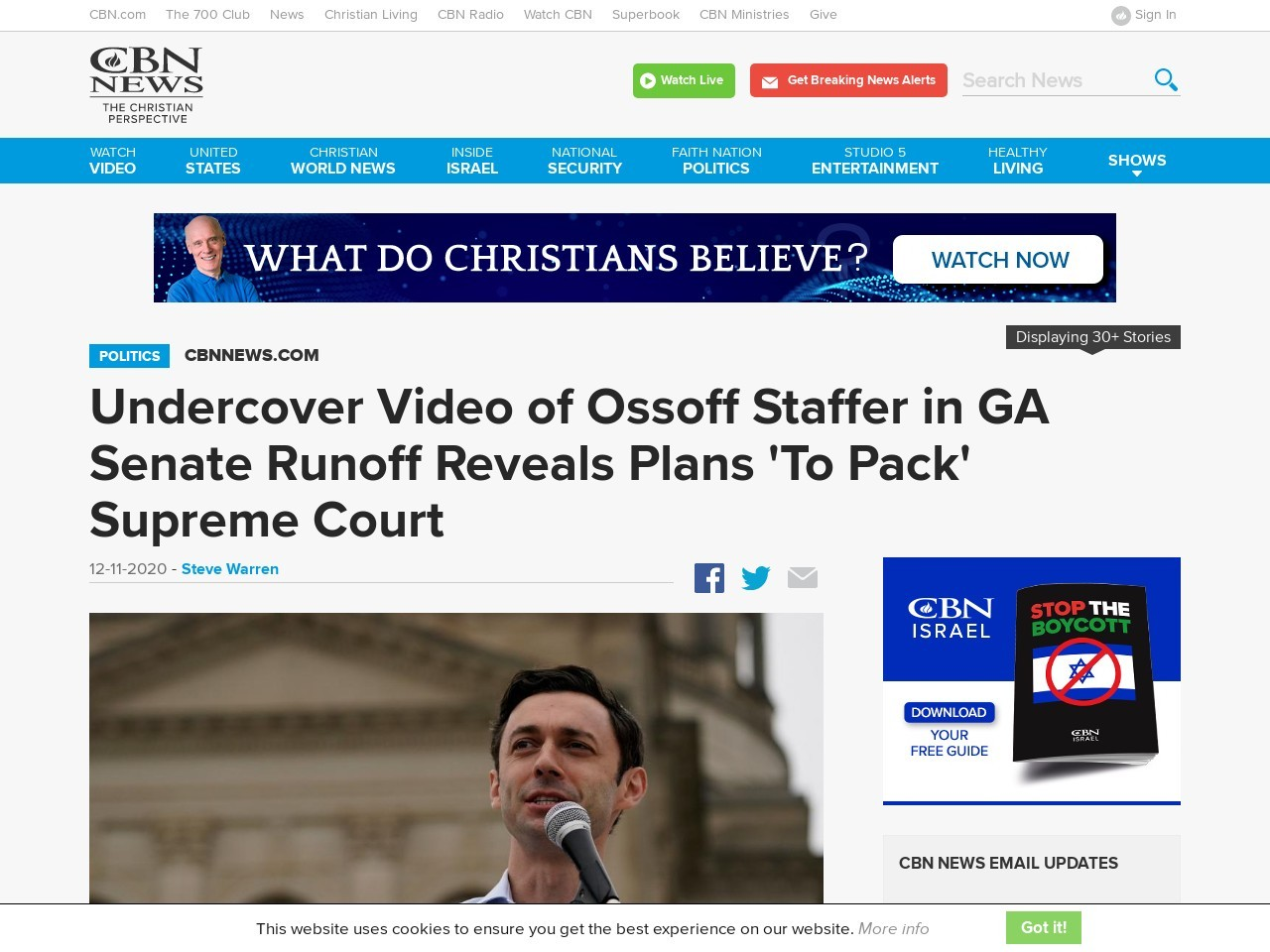 Undercover Video of Ossoff Staffer in GA Senate Runoff Reveals Plans 'To Pack' Supreme Court