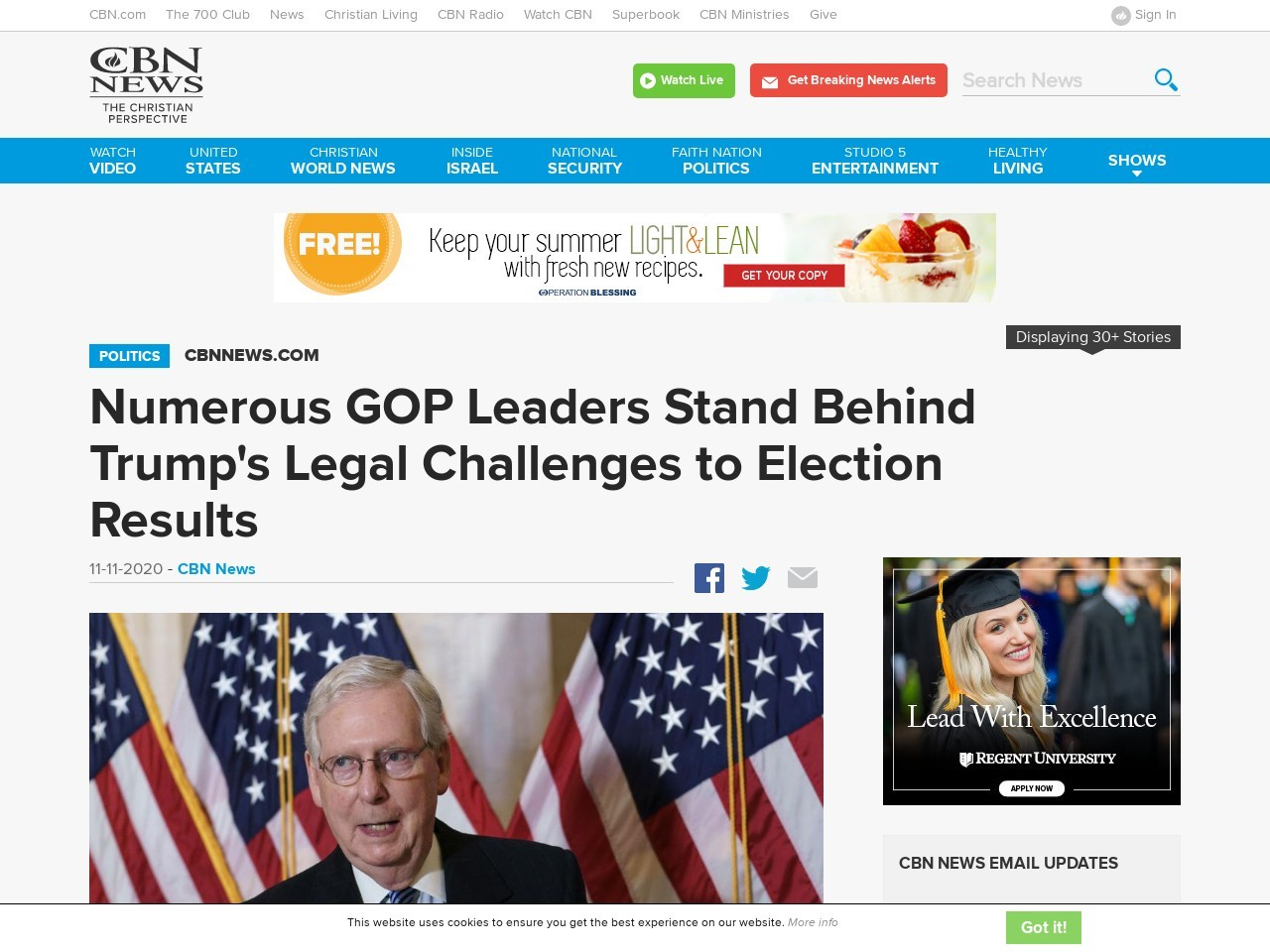 Numerous GOP Leaders Stand Behind Trump's Legal Challenges to Election Results