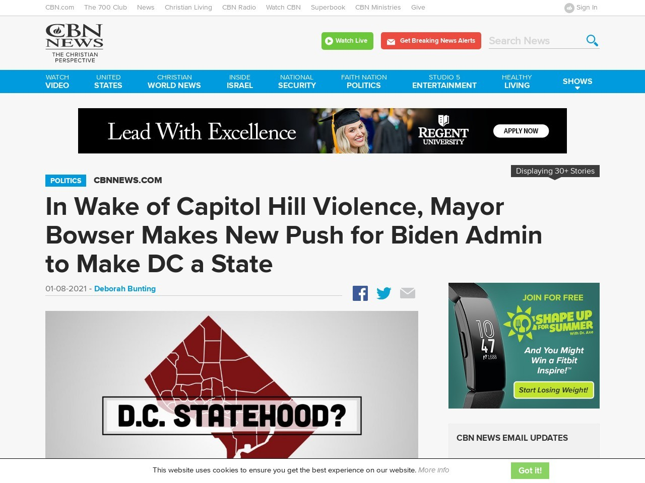 In Wake of Capitol Hill Violence, Mayor Bowser Makes New Push for Biden Admin to Make DC a State