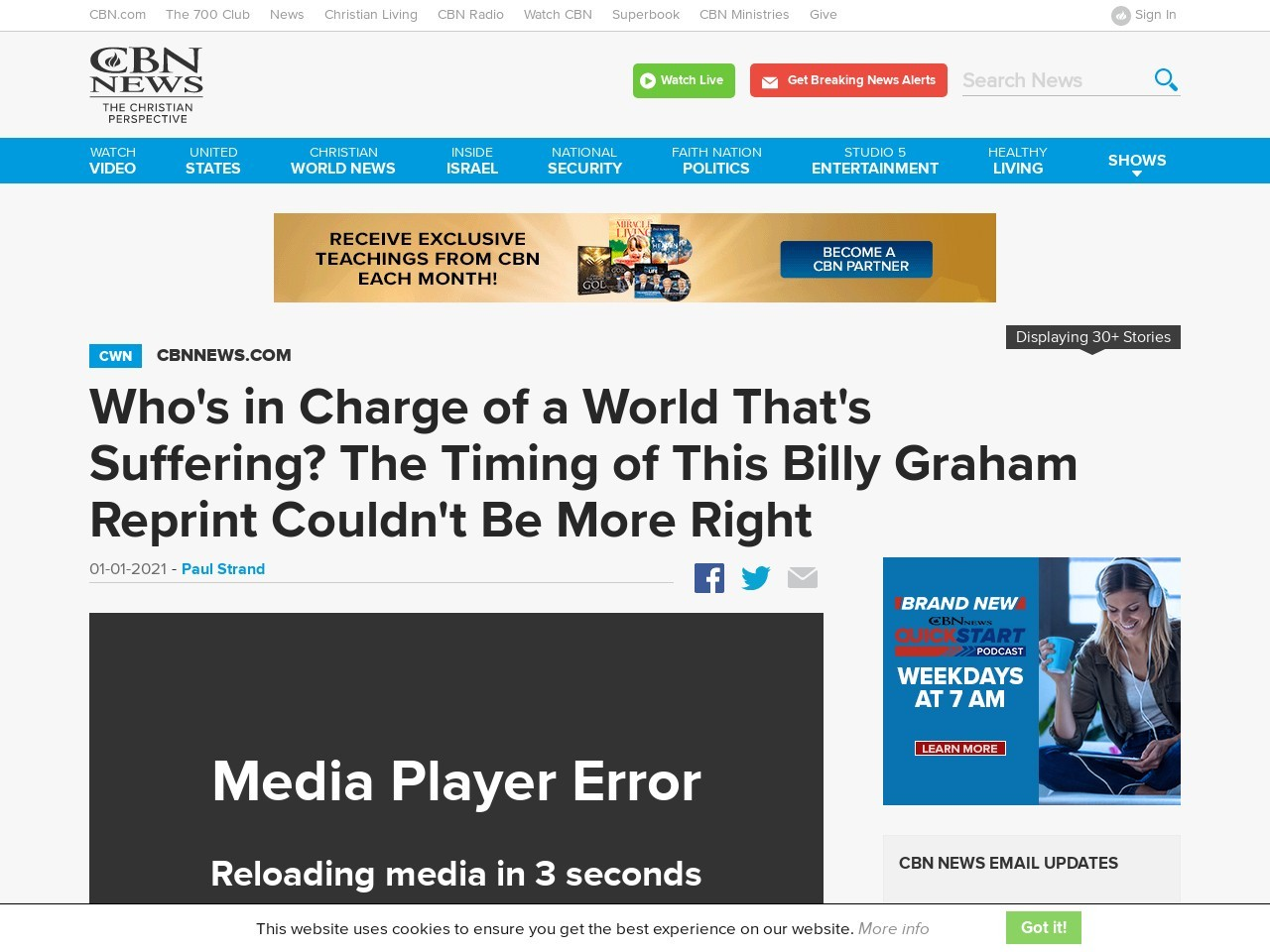 Who's in Charge of a World That's Suffering? Billy Graham's Reprinted Book Reminds Readers God's Still in Control