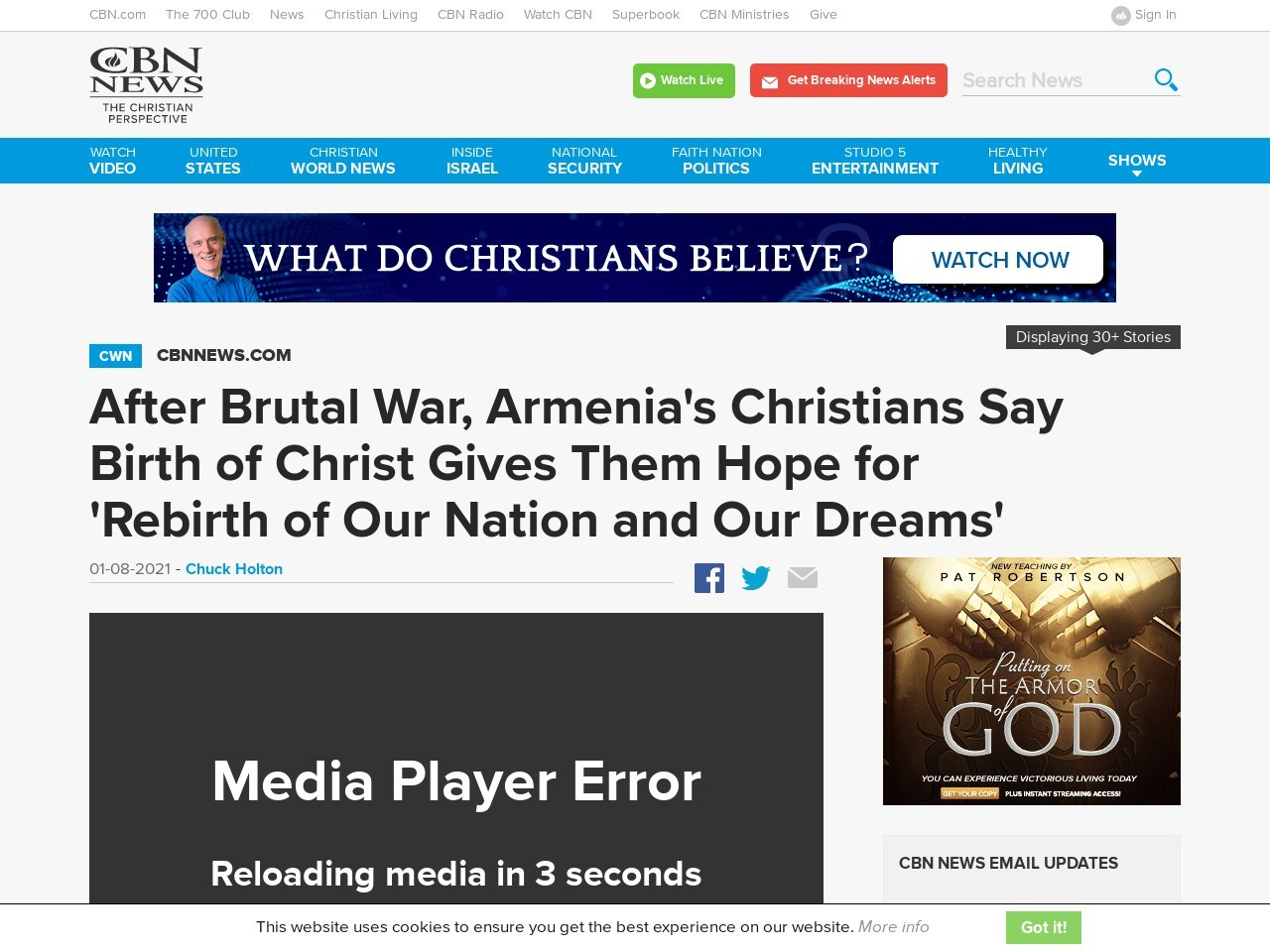 After Brutal War, Armenia's Christians Say Birth of Christ Gives Them Hope for 'Rebirth of Our Nation and Our Dreams'