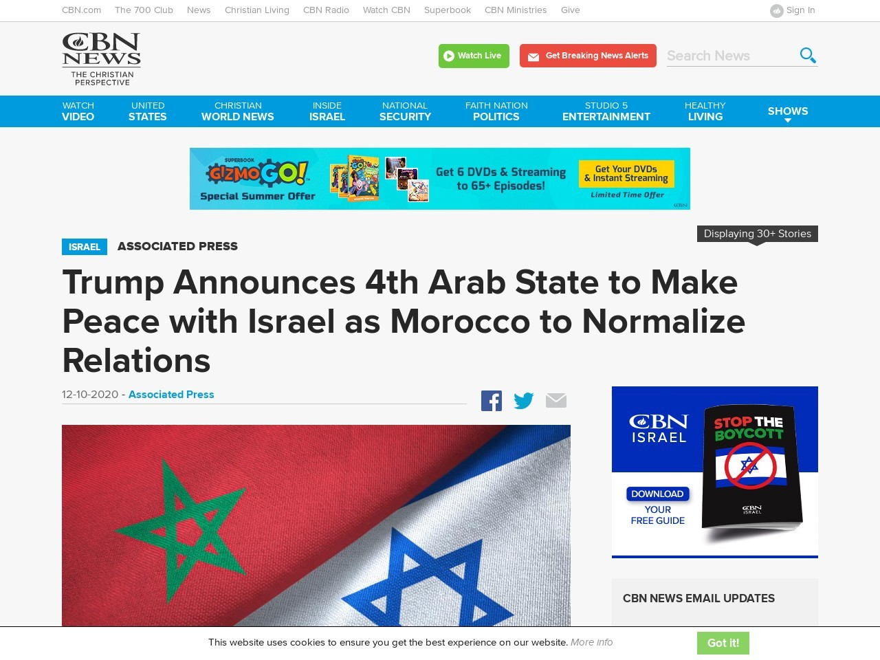 Trump Announces 4th Arab State to Make Peace with Israel as Morocco to Normalize Relations