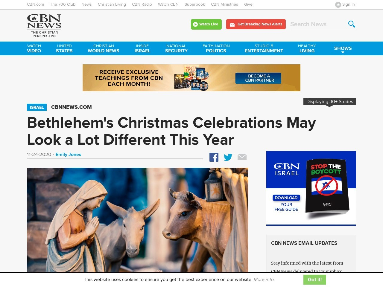 Bethlehem's Christmas Celebrations May Look a Lot Different This Year