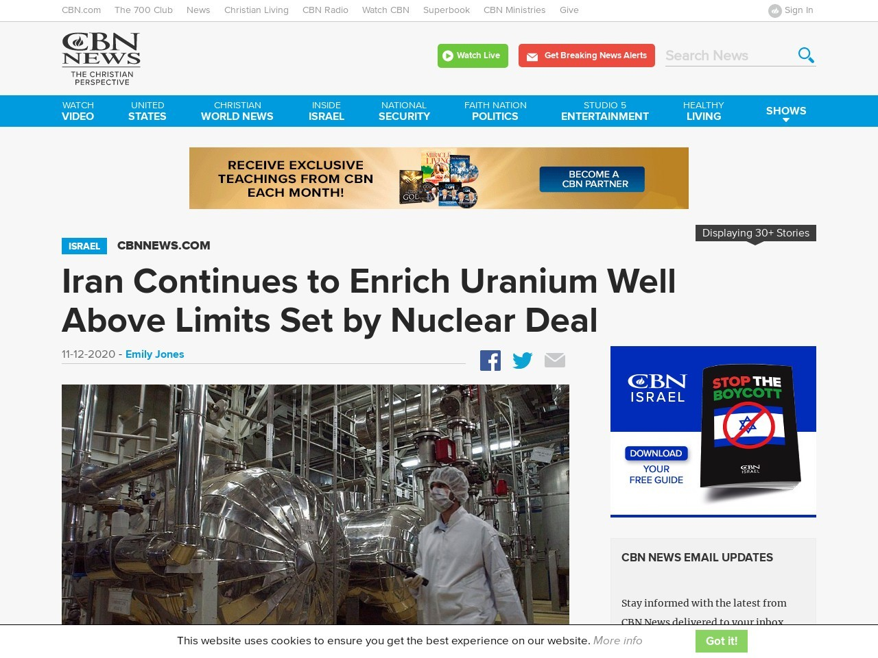 Iran Continues to Enrich Uranium Well Above Limits Set by Nuclear Deal