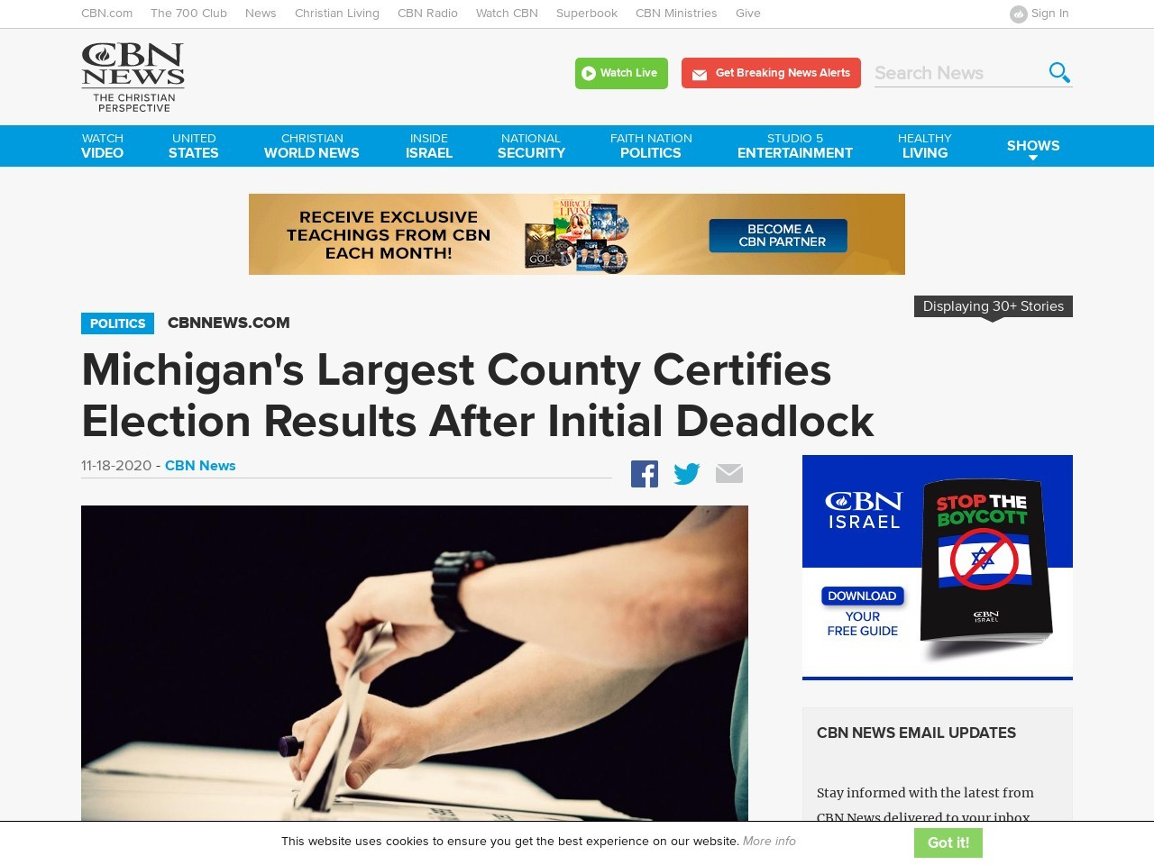 Michigan's Largest County Certifies Election Results After Initial Deadlock