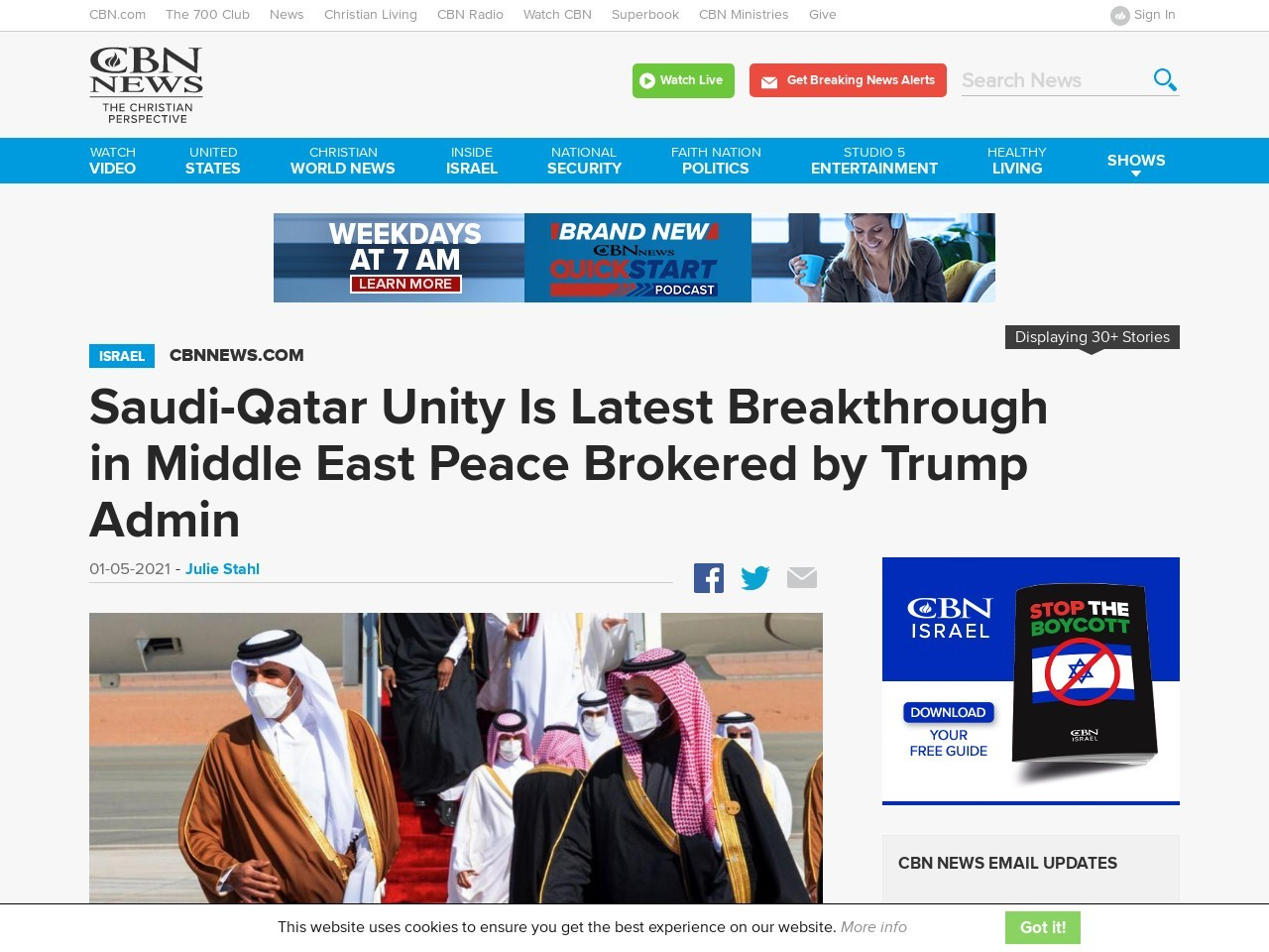 Saudi-Qatar Unity Is Latest Breakthrough in Middle East Peace Brokered by Trump Admin