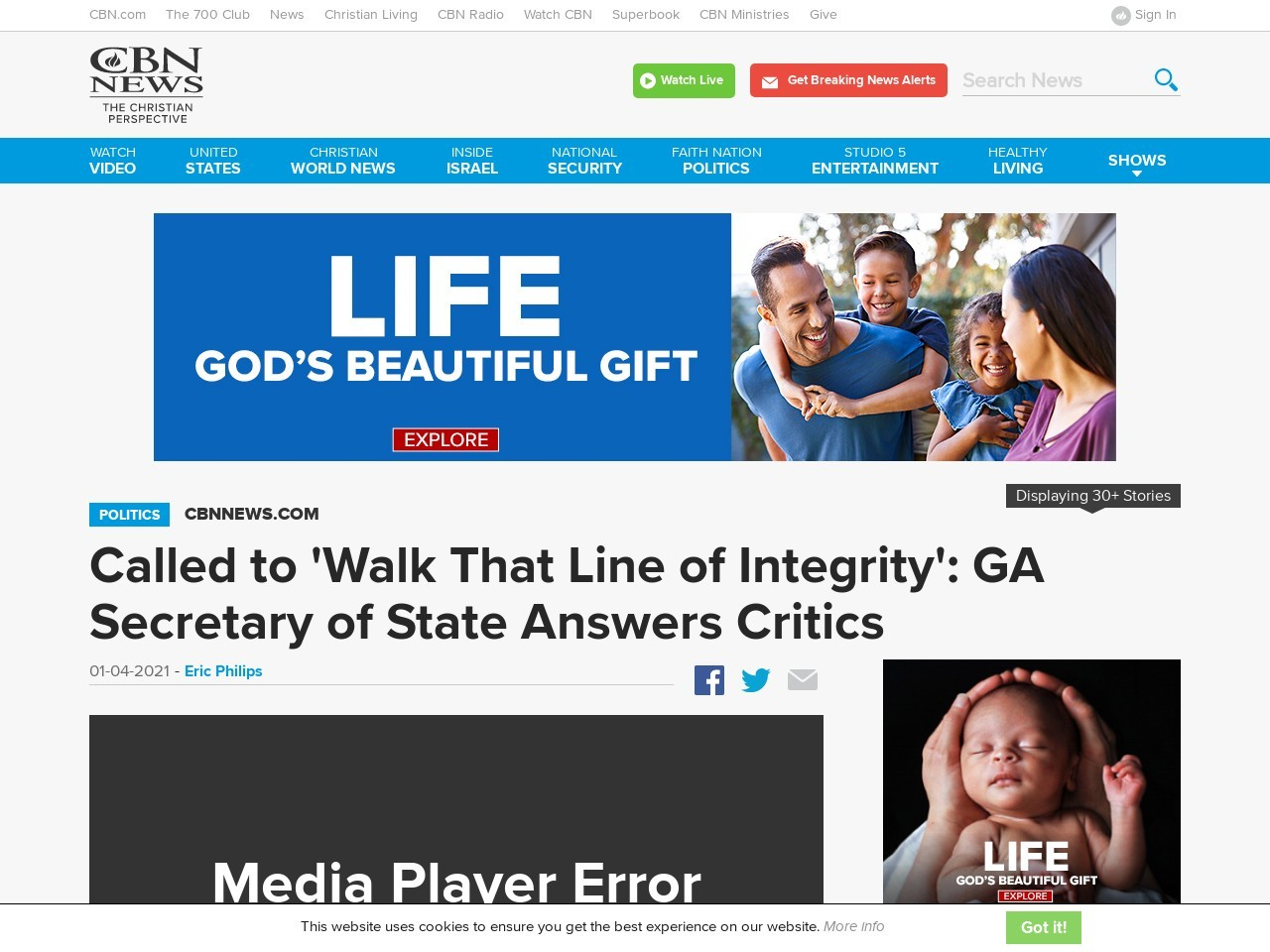 Called to 'Walk That Line of Integrity': GA Secretary of State Answers Critics