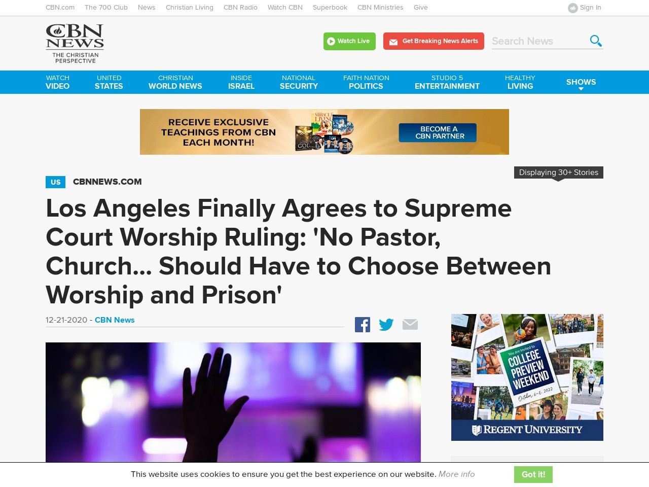 Los Angeles Finally Backs Down: 'No Pastor, Church… Should Have to Choose Between Worship and Prison'